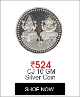 CJ 10 GM Silver Coin With 999 Fineness