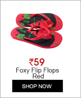 FOXY GIRL TICKET-2 FLIP FLOPS RED