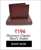 Skyways Classic Mocha Brown Men's Wallet (680)