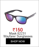 Mask 82231 Black Blue Mirror Wayfarer Sunglasses
