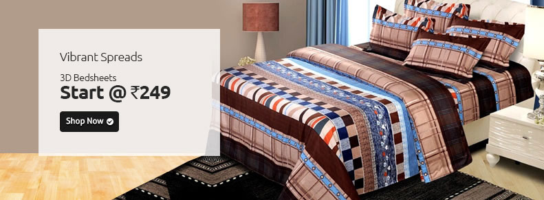 3D bedsheet start at 249