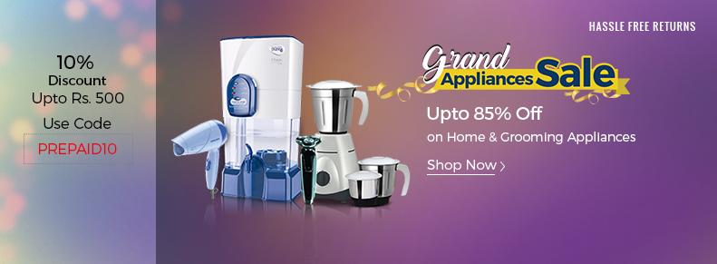 Shopclues: Grand Appliances Sale – Upto 85% OFF