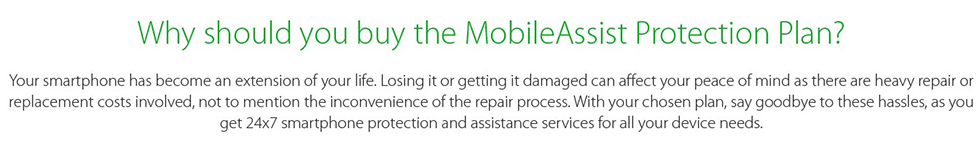 Why should you buy the MobileAssist Protection Plan - ShopClues
