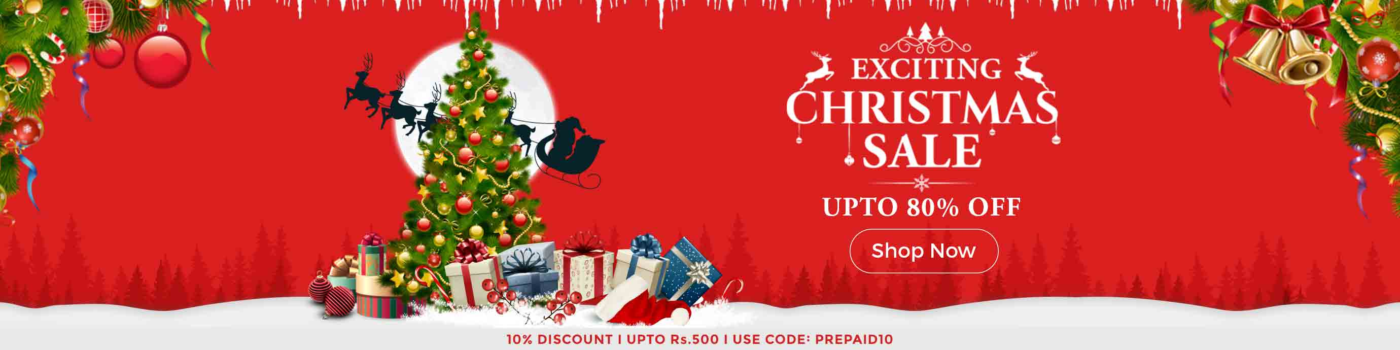 ShopClues Exciting Christmas Sale Begins  Upto 80% Off – Buy Online at Shopclues.com