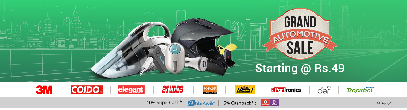 Shopclues: GRAND AUTOMOTIVE SALE | Car & Bike Accessories Starting @ Rs.49/-