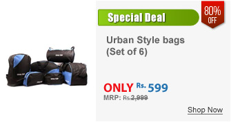 Urban Style Set of 6 Utility bags