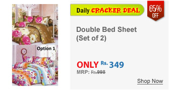 Set of 2 Double Bed Sheet with 4 Pillow Covers