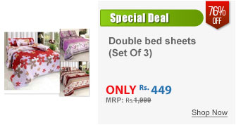 K Decor set of 3 double bed sheets