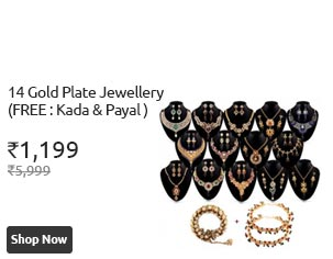 Cracker Deal 14 Gold Plate Jewellery