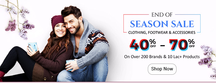 Shopclues: Upto 70% Off @ End of Season Sale on Fashion | Extra 10% Off