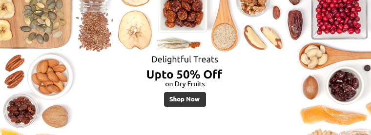 Dry Fruits Upto 50percent off