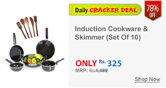 EShop 5 Pcs Non-Stick Induction Safe Cookware & 5 Pcs Skimmer Set