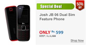Josh JB 06 Dual Sim Feature Phone (Black-Red)