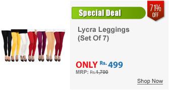 Set Of Cotton Lycra Leggings 7 Colours