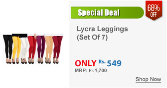 Set Of Cotton Lycra Leggings 7 Colours