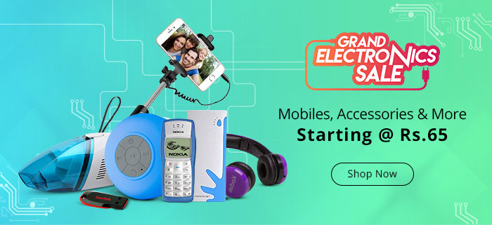 ShopClues: Grand Electronics Sale Starting @ Rs.65/-