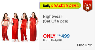 Magical Maroon set of 6 pcs. Nightwear