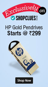 Shopclues Exclusive - HP Gold Pendrives