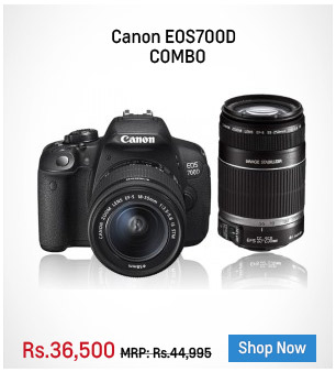 CANON EOS700D COMBO-18-55MM STM LENS+ 55-250MM IS LENS+ 8GB CARD+CASE