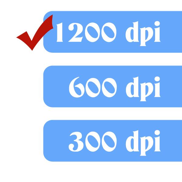 Resolution/dpi