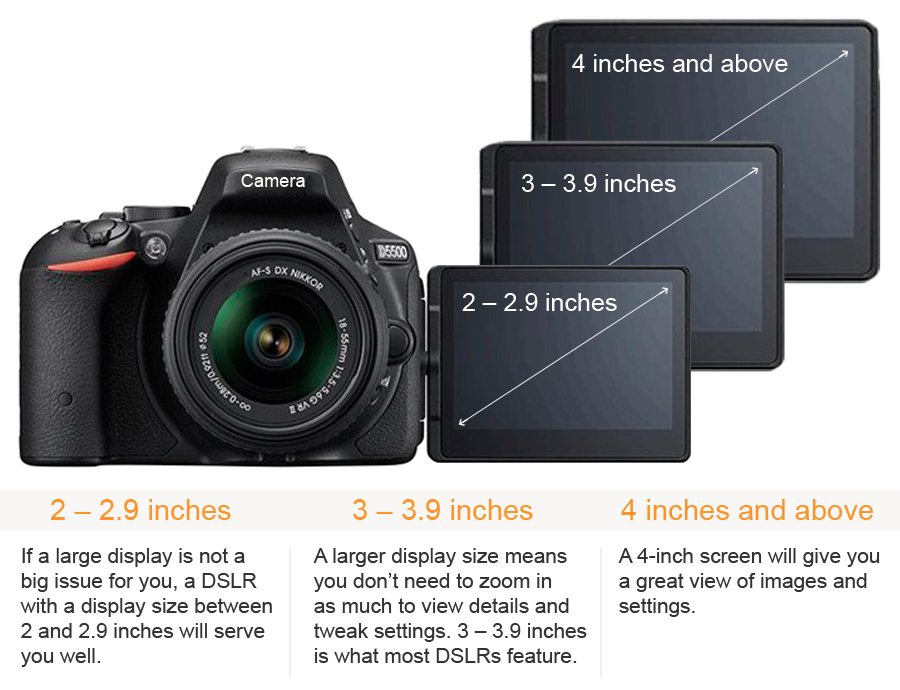DSLR Display Sizes