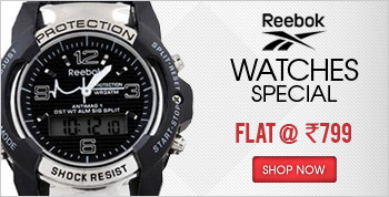 Reebok Watches@Flat Rs.799 + 49 shipping extra@Shopclues