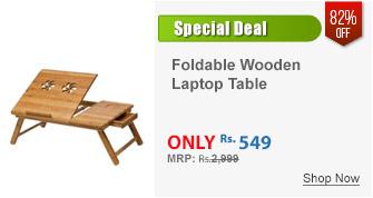 Multipurpose Foldable Wooden Laptop Table Cum Study Table