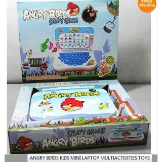 Angry Birds Kids Mini Laptop Multiactivities Toys FREE SHIPPING