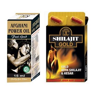 Gangeshwari Herbals Afghani Power Oil  DABUR  SHILAJIT GOLD 10 CAPSULES available at ShopClues for Rs.291