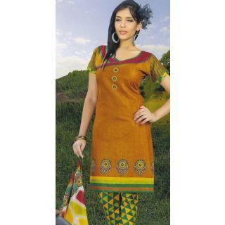 Paris Dress  Cotton Dress Material Elegant / Unstiched Salwar Kameez Suit D. NO. PB10009