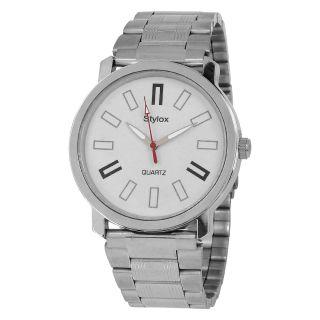 Stylox WH-STX213 White Dial Chain(STX213) Analog Watch - For Men