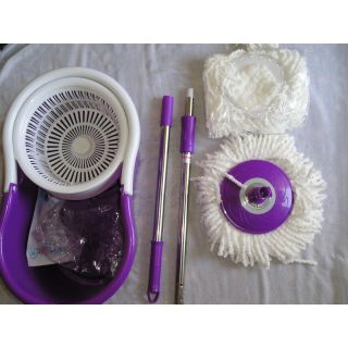 Easy Magic Mop IC Mop WIth Fast Spindry Wringer&2 Mop Head+GLOVES FINYAL BOTTEL