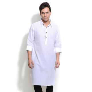 Fashion Men's Apparel Ethnic Wear Men's Sleeve Cotton Kurta White ...