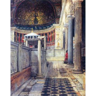 The Interior Of The Church Of San Clemente, Rome By Alma-Tadema - Canvas Art Print