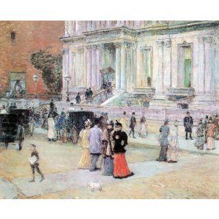 The Manhattan Club (The Villa Of The Stewarts) By Hassam - Fine Art Print