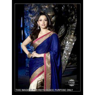 Indian Designer Bollywood Replica Tamanna Royal Blue Silky Valvet