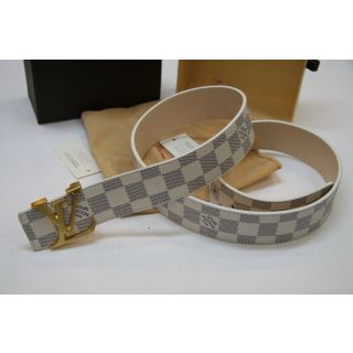 Roll over image to zoom inLouis Vuitton Belt White
