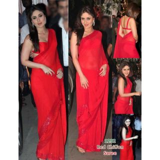 Karina's BollyWood Replica Red Saree