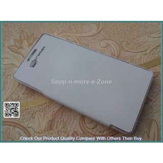 FLIP COVER FOR MICROMAX CANVAS FUN A74 WHITE