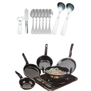Branded Combo offer 5 Piece Toro Cookware Set & 10 Piece Cutlery Set