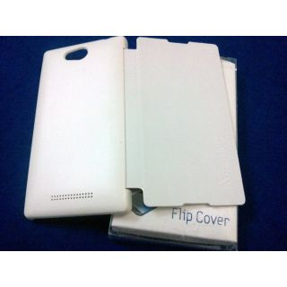 FLIP COVER FOR SONY XPERIA C2305 WHITE