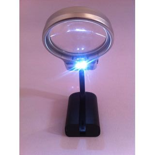 Foldable Magnifying Glass Lamp With Led Light