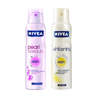 Nivea  Pearl Beauty & Whitening Pack Of 2 Deo150ml Each(for Women)