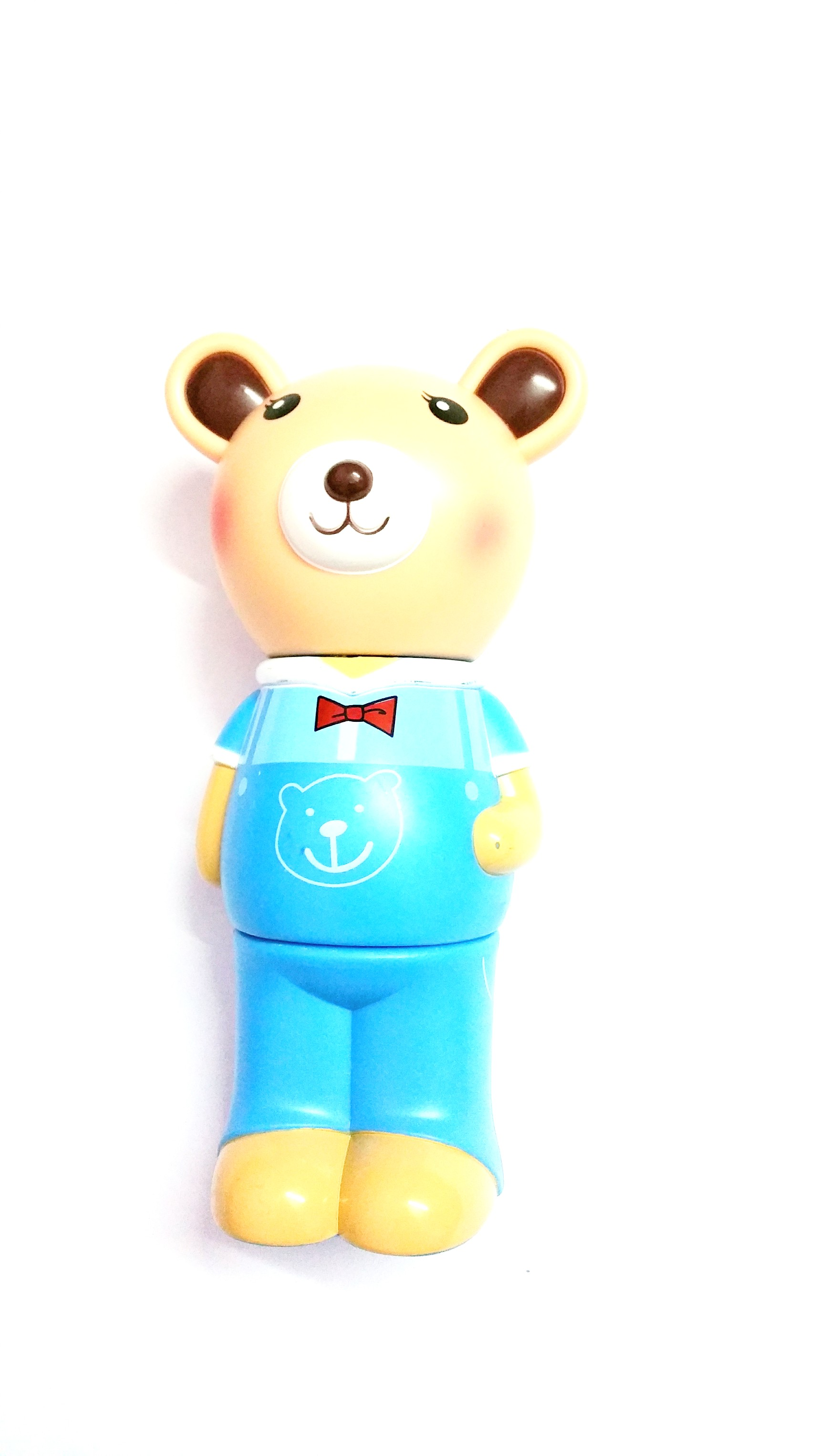 Buy 3 Compartment Blue Bear Piggy Bank Online In India
