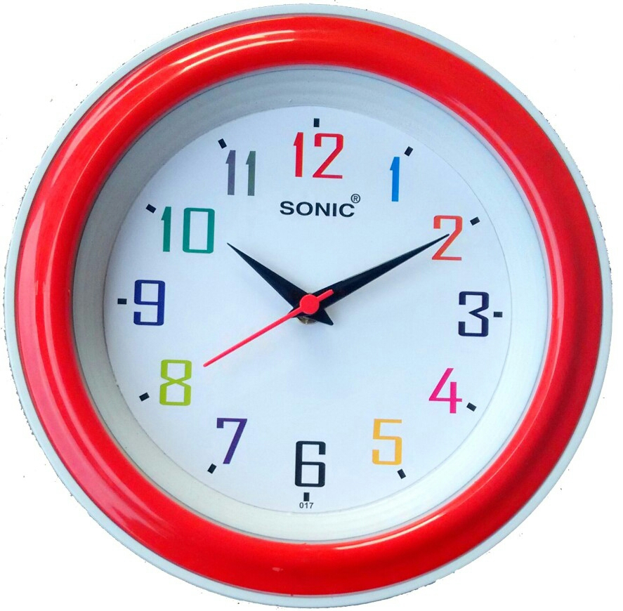Buy Sonic Wall Clock Round Shape Assorted Colors Online In