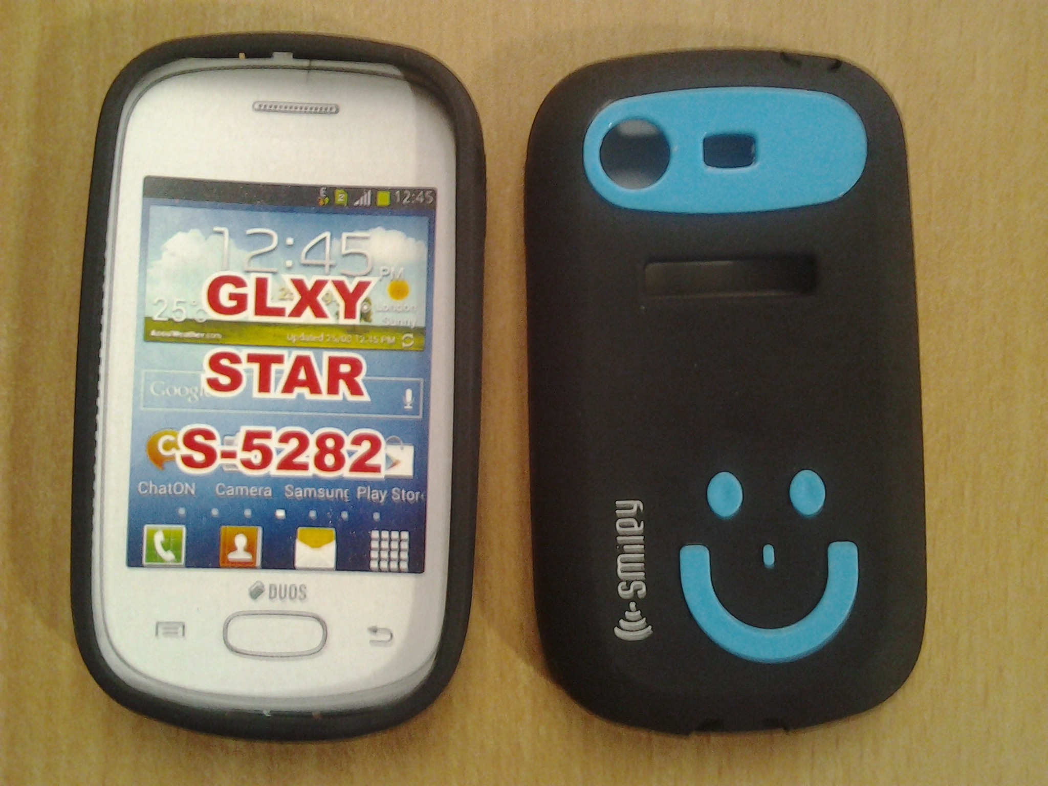samsung galaxy star s-5282 smiley back cover