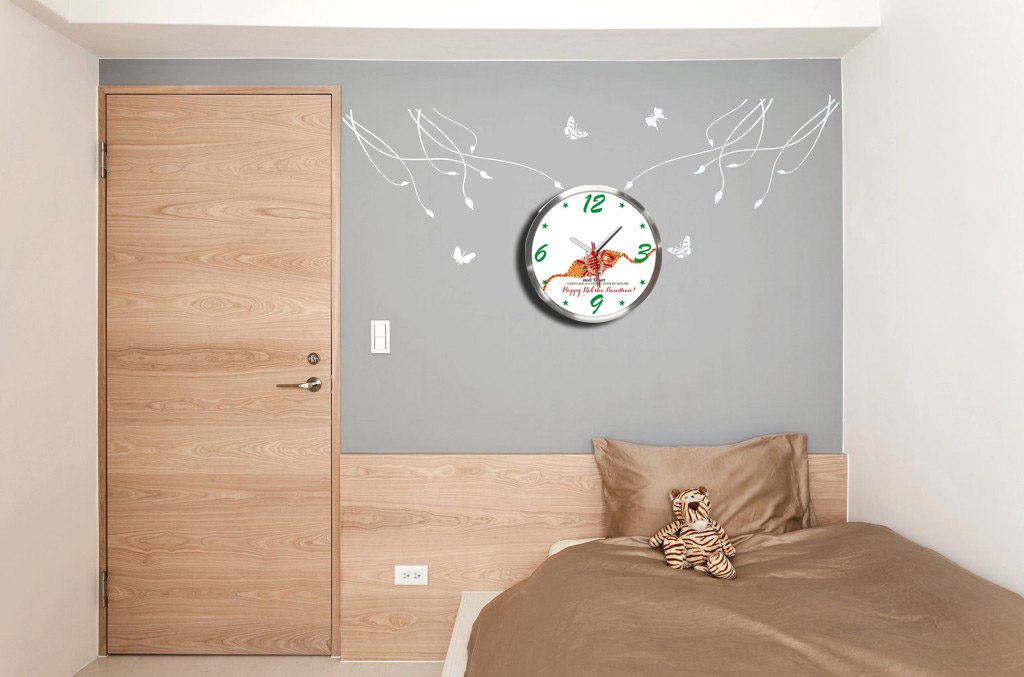 Wall Decor Acrylic Sheet : Buy steel d art raksha bandhan wall clock printed with