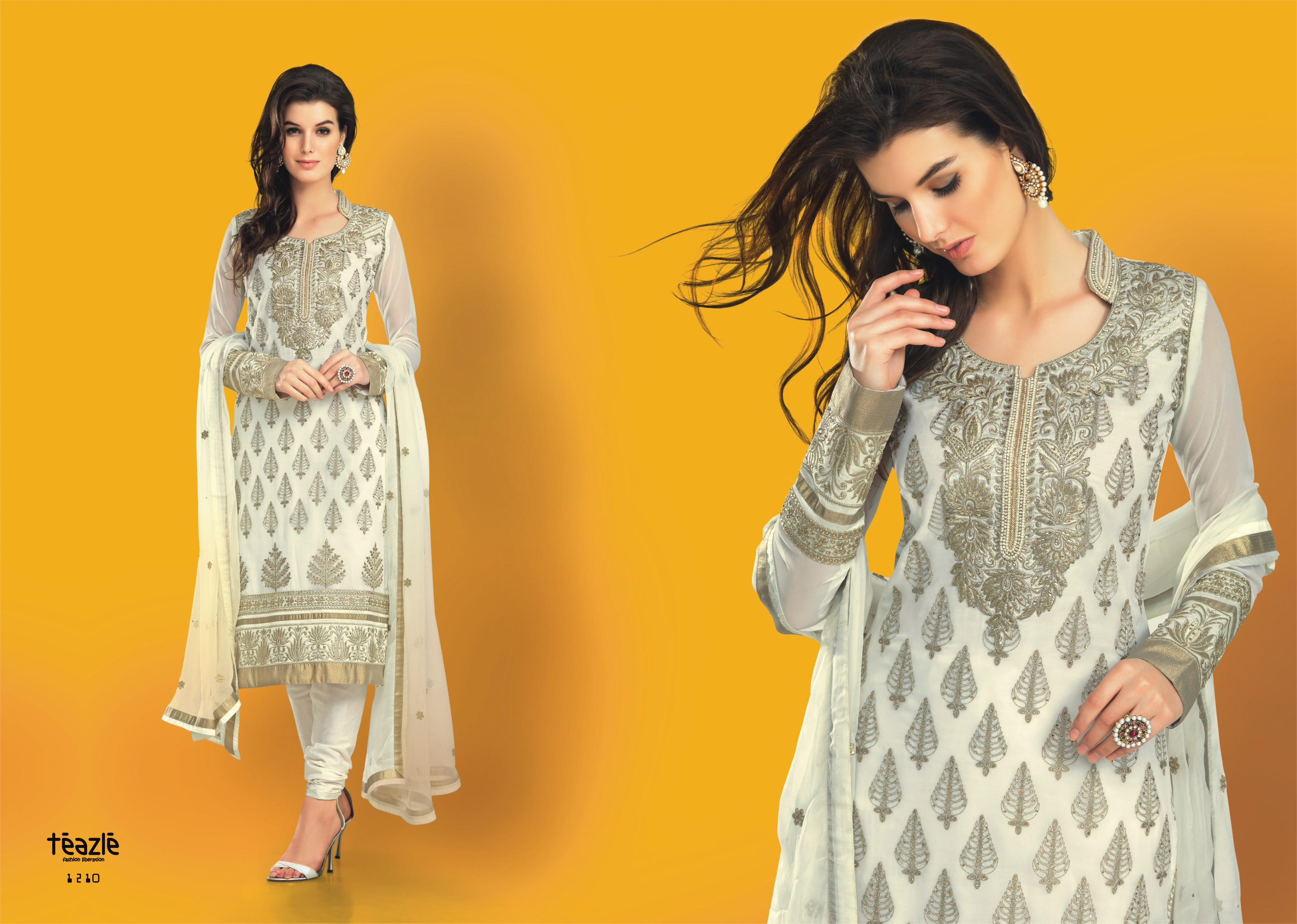 Indian traditional designer ethnic party wear dress material bg