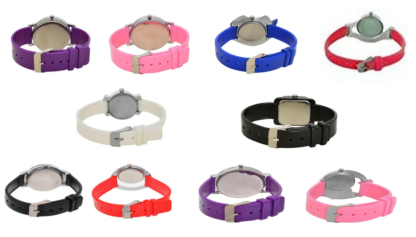 GLORY designer womens watches combo of 10 pc (free metal cluch for little girl)