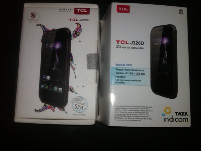 "TCL J320D CDMA + GSM smart phone 4"" Android 4.1 dual core wifi evdo"